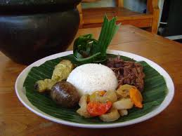 Gudeg rice, a sweet food from Middle Java